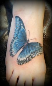 Tattoos - Max's blue butterfly - 64015