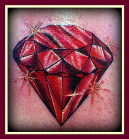 Tattoos - Red diamond - 64017