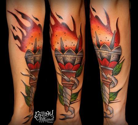 Tattoos - Torch - 109473