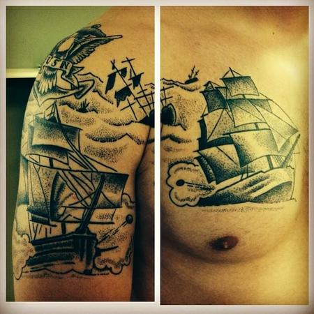 Tattoos - Nautical Battle - 108350