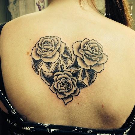 Tattoos - Roses in a heart shape - 108353