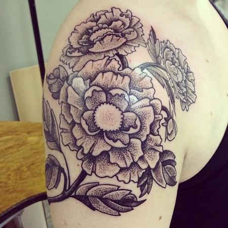 Tattoos - Dotwork Flowers - 108354