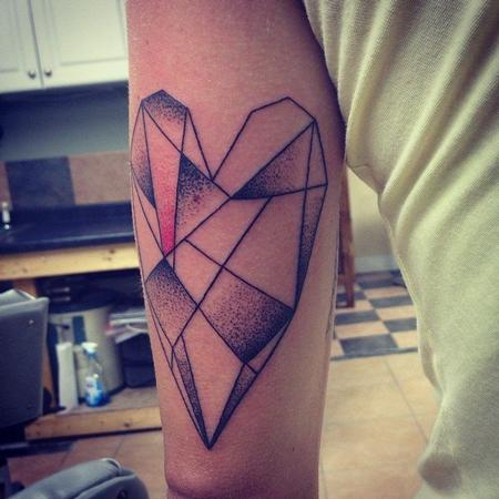 Tattoos - Geometric Heart - 108347