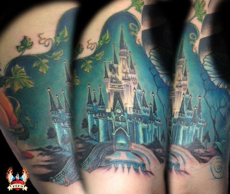 Tattoos - Cinderella castle underarm - 109064
