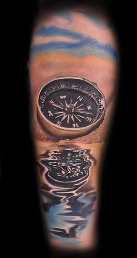 Tattoos - sand compass - 114564