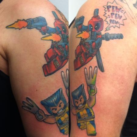 Tattoos - Lego Deadpool and Lego Wolverine - 112059