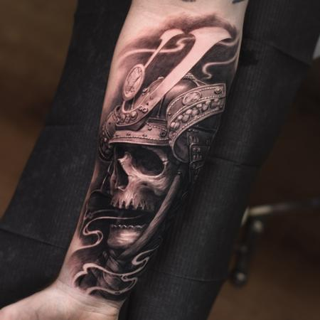 Travis Greenough - Samurai Skull Tattoo