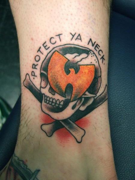 Ian 'Bugsy' Christiansen - Traditional Skull Tattoo