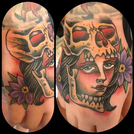 Chad Leever - Girl head with skull