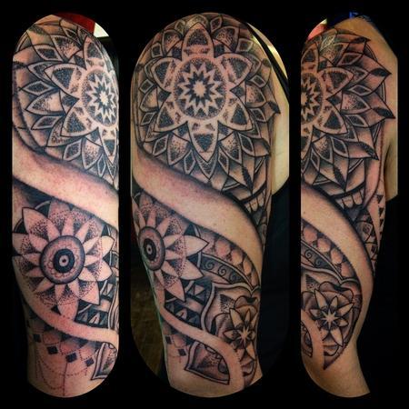 Tattoos - Mandala half sleeve  - 117020