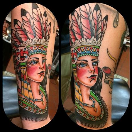 Tattoos - American Indian Girl - 109156