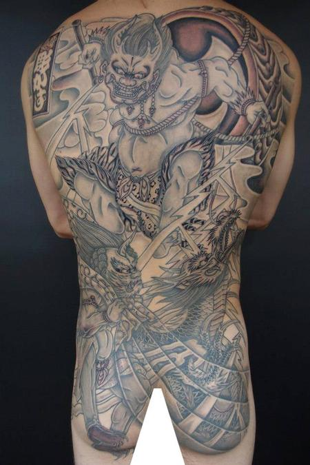 Tattoos - Fullback Irezumi Oni Tattoo - 115348