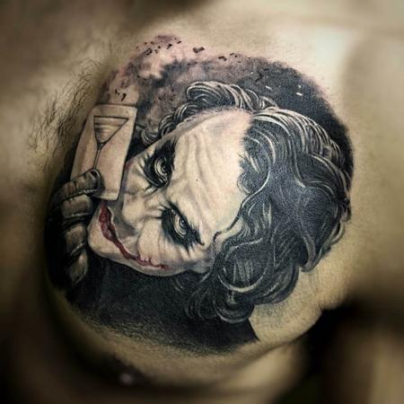 Tattoos - Low Color Joker Portrait Tattoo - 115617