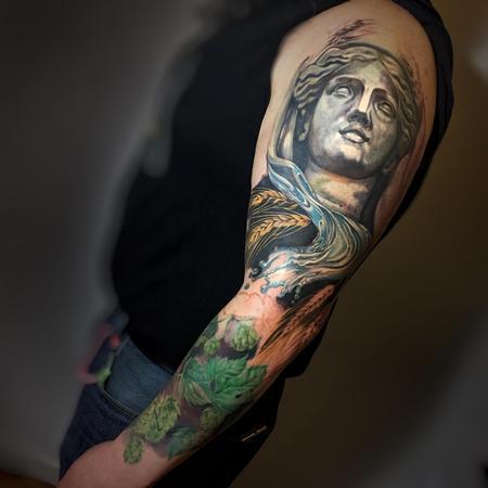 Tattoos - In Progress Beer Themed Sleeve - 125594