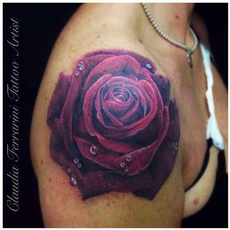 Tattoos - Realistic Rose - 98706