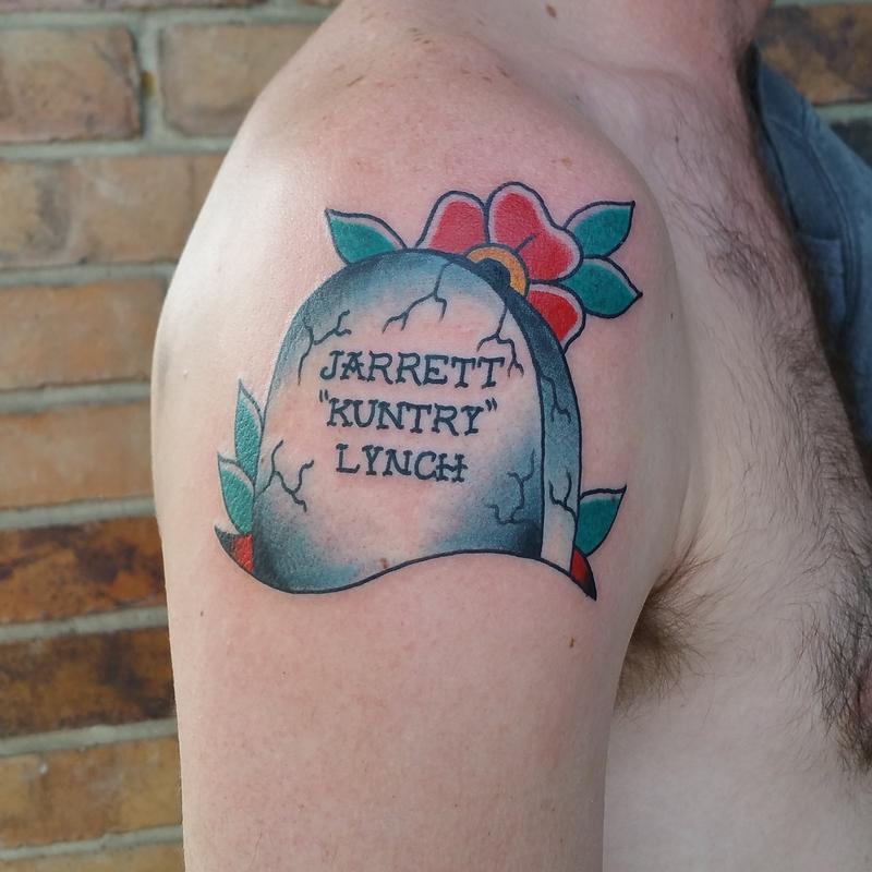 Tombstone W Flowers By Cody Hennings Tattoonow