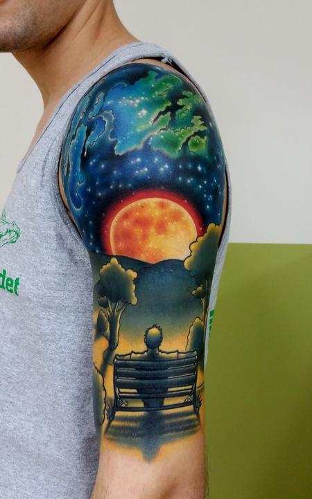 Tattoos - Man on a bench - 99531