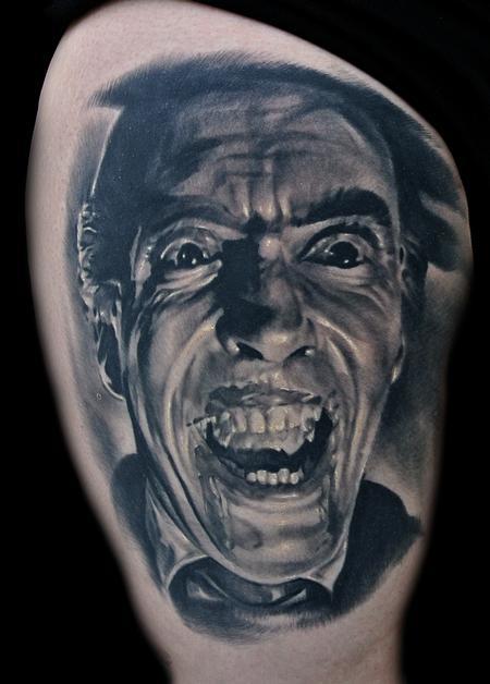 Cris STC - Dracula Portrait Tattoo