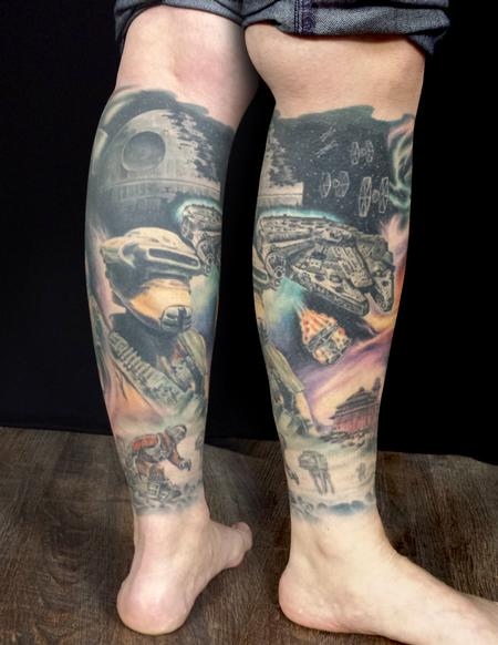 Damion Cressy - Star Wars leg sleeve