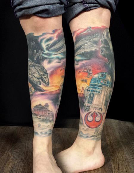 Tattoos - Star Wars leg sleeve - 115651