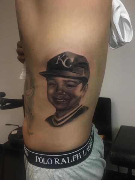 Tattoos - memorial Portrait of brother - 116706