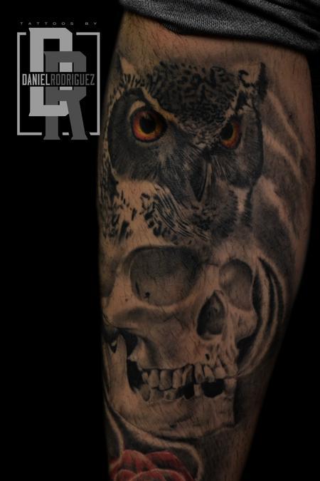 Tattoos - owl skull tattoo - 115765