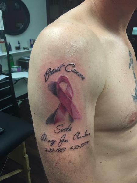 Tattoos - Breast Cancer Tribute Tattoo - 114839
