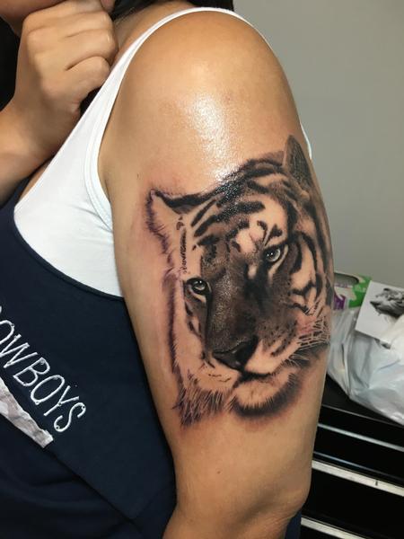 Tattoos - Realistic Tiger Tattoo - 116885