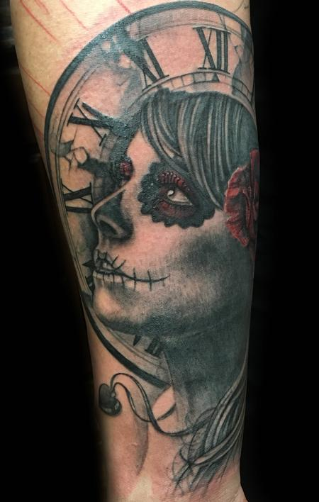 Tattoos - Day of the dead woman - 114030