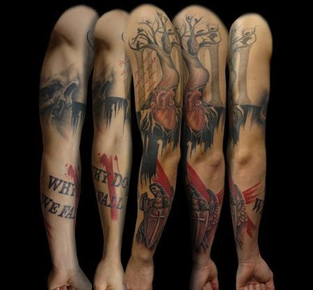 Tattoos - Trash Polka Sleeve - 108030