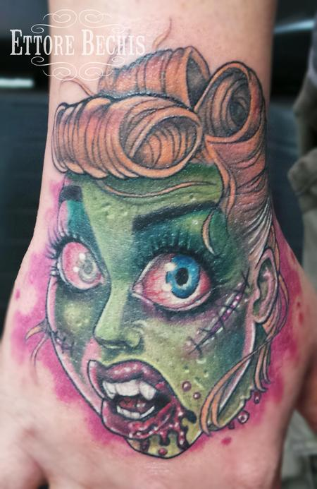 Tattoos - Zombie Pin Up - 115111