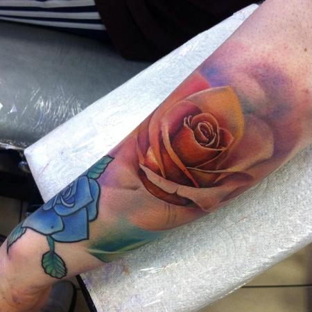 Tattoos - Peach Rose - 117701