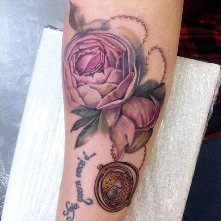 Tattoos - Peonies and Timeturner - 117704