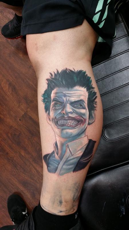Tattoos - Custom Realistic Joker - 111252