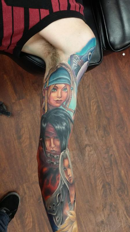 Tattoos - Final Fantasy Partial Sleeve - 111270