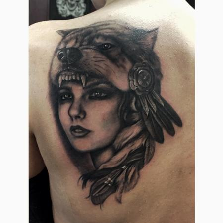 Tattoos - Wolf girl - 111542