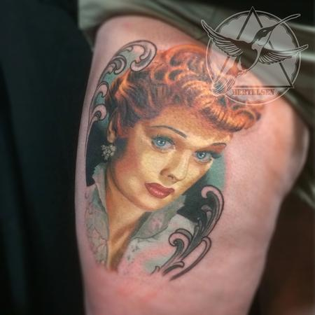Tattoos - Lucille Ball Vintage Color Portrait - 108320