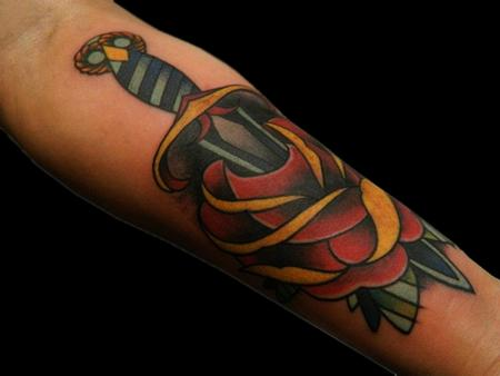 Tattoos - Rose and Dagger - 70182