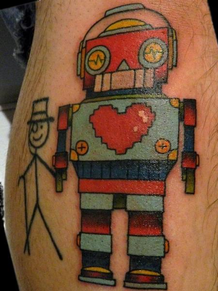 Tattoos - Robot  - 70183