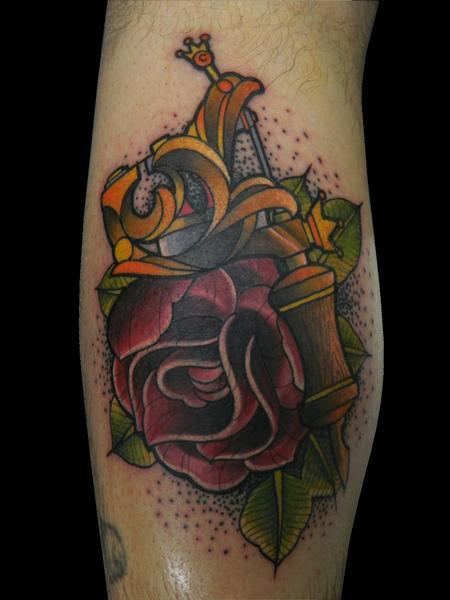 Tattoos - Tattoo Machine with Rose - 70181