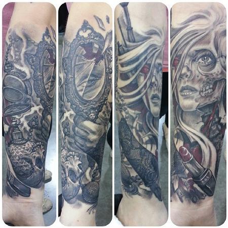 Tattoos - Zombie Woman - 100291