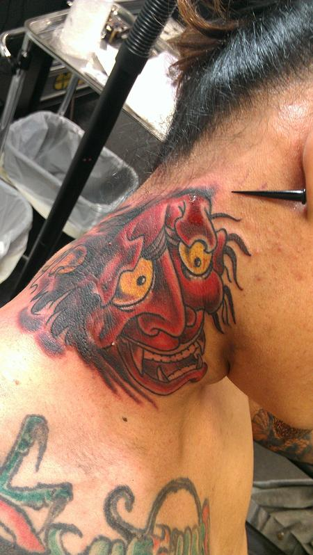 Tattoos - Oni mask - 79070
