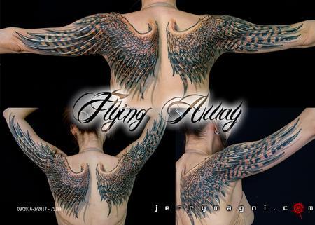Tattoos - flying away - 126707