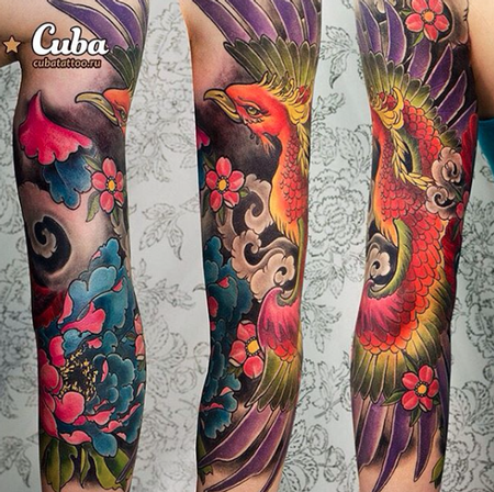 Tattoos - Rainbow Phoenix - 111948