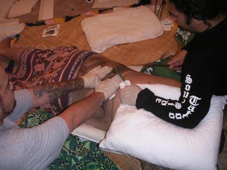Tattoos - Samoan Blackwork Tattoo - 61591
