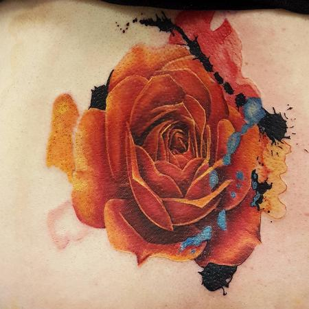 Tattoos - Rose watercolour - 117615