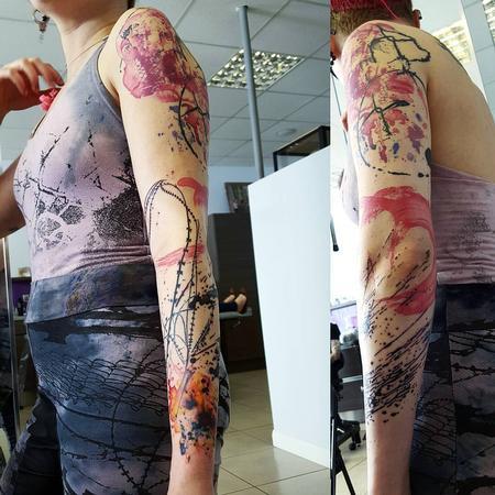 Tattoos - abstract minimal sleeve - 117613