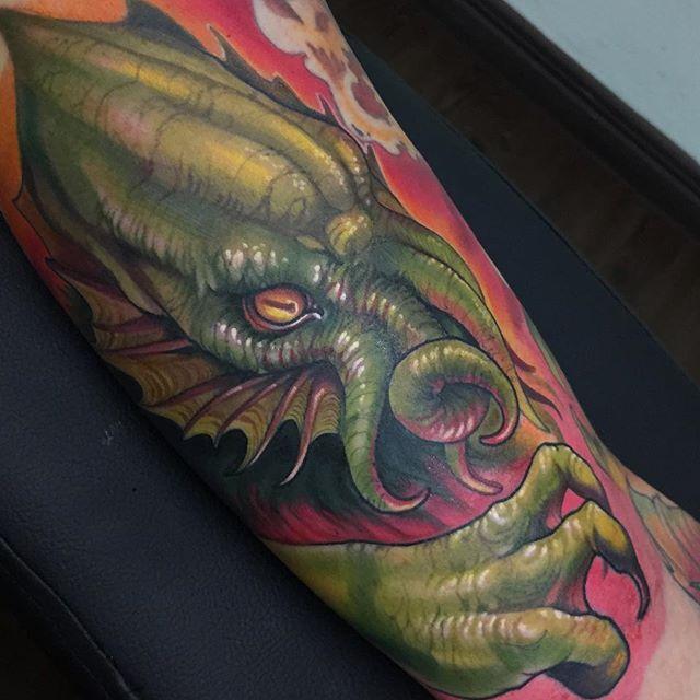 Cthulhu tattoo by Killian Moon: TattooNOW :