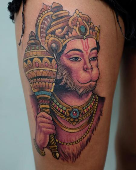 Tattoos - color hanuman - 141754
