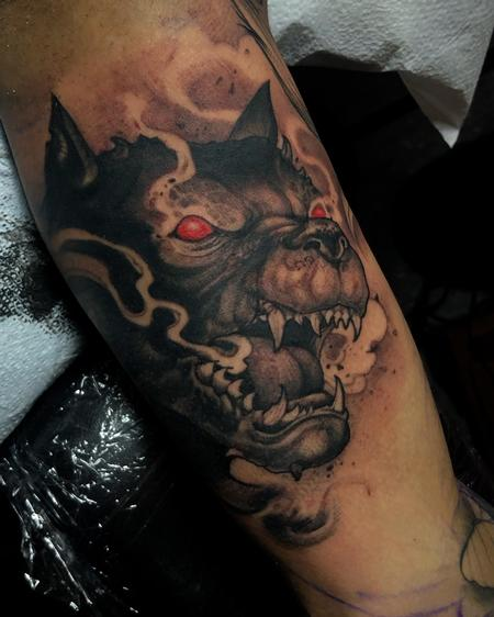 Tattoos - evil pitbull - 141757
